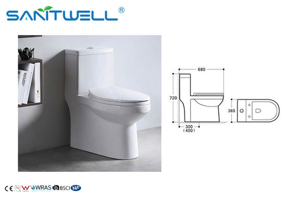 China Keramisches Siphonic WC SWS81511, siphonic einteilige Toilette Weiß-Farbe usine